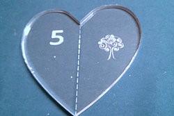 """5"""" szív  tűzősablon"""